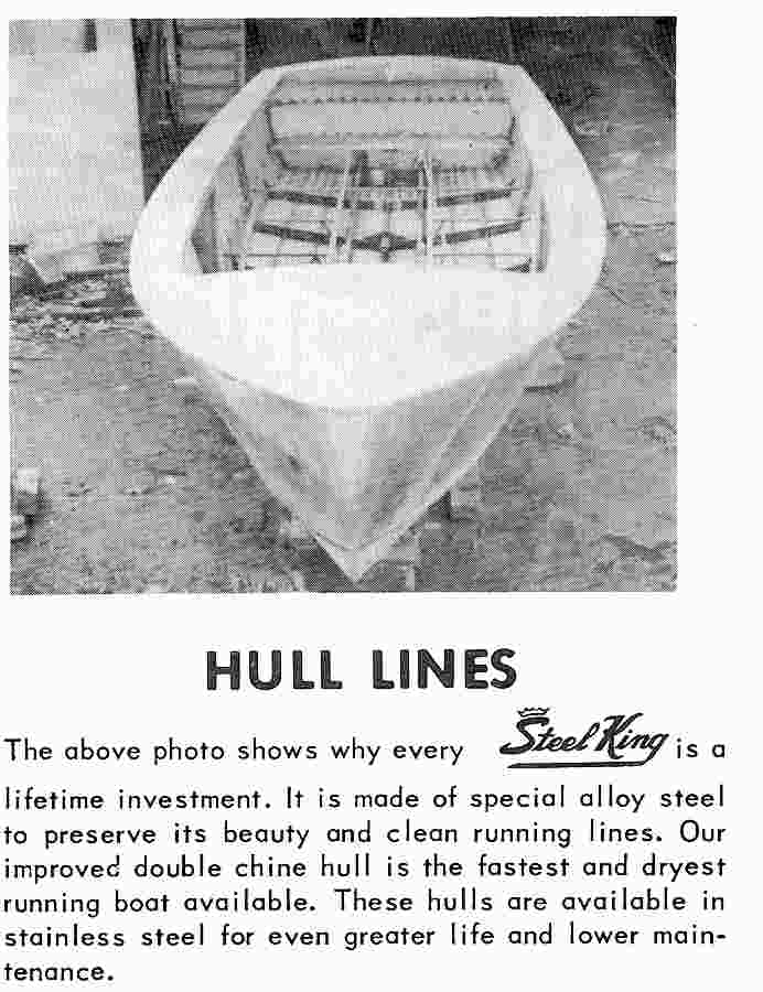 Steel boats - hull under construction