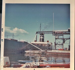 Clayton 1000 islands coal dock summer 1967 - ships